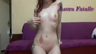 Redhead Teen Spitting and Pissing on herself in Parents Room-Laura Fatalle
