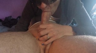 Angel Stone Close up Blowjob with Pulsing Oral Creampie