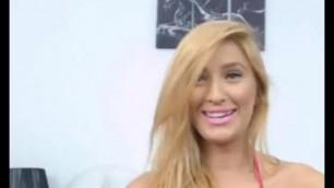 Big Boobed Amateur Blonde has Fun Chatting Live in Bikini