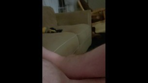 Country Boy Daddy Jack off and Cum Warming up for Wifey